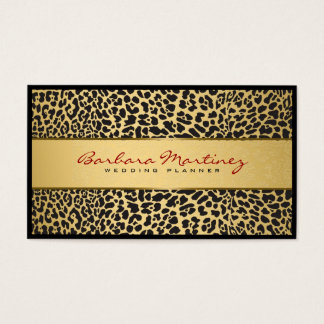 Black And Gold Floral Damasks & Animal Print Business Card