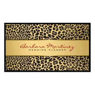 Black And Gold Floral Damasks & Animal Print Pack Of Standard Business Cards