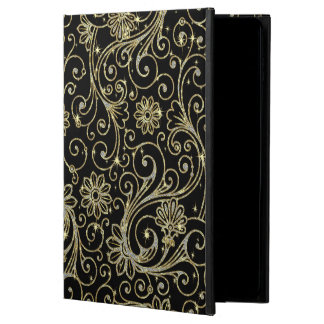 Black And Gold Floral Glitter & Sparkles Powis iPad Air 2 Case