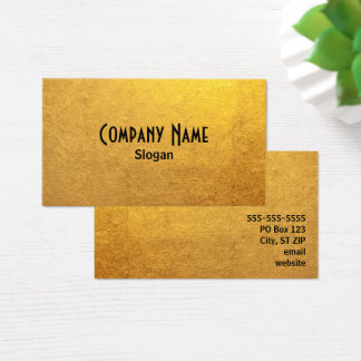 Black and Gold Foil Photo Business Card
