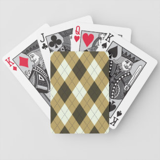 Black And Gold Geometric Stripes Argyle Pattern Bicycle Playing Cards