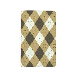 Black And Gold Geometric Stripes Argyle Pattern Journal
