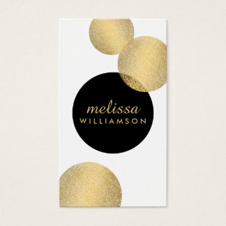 Black and Gold Glamour and Beauty Business Card