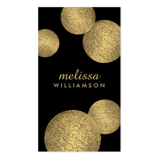 Black and Gold Glamour and Beauty II Business Card