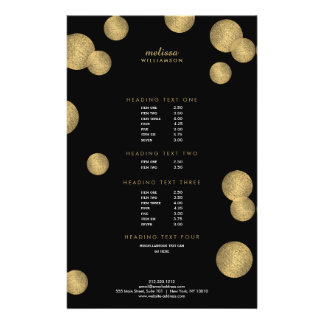 Black and Gold Glamour and Beauty II Flyer