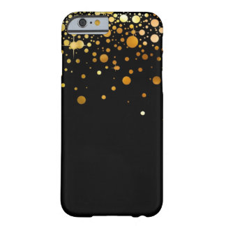 Black and Gold Glitter foil iphone 6 case