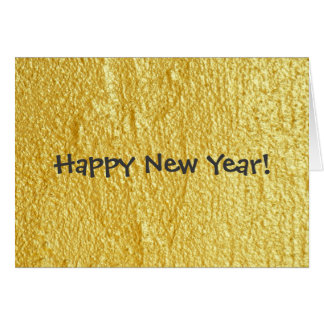 Black and Gold Happy New Year Card
