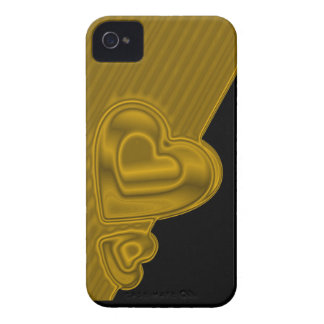 Black and gold Hearts BlackBerry Bold Case-Mate iPhone 4 Case