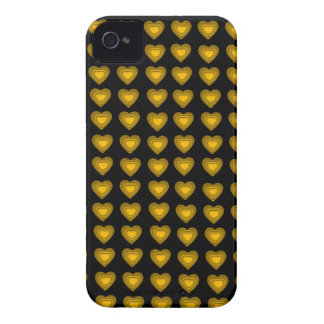 Black and gold Hearts BlackBerry Bold Case-Mate iPhone 4 Cover