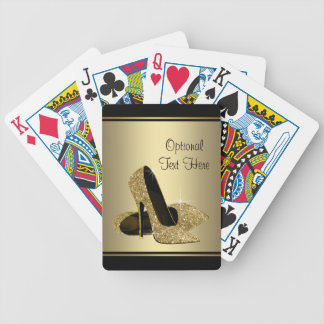 Black and Gold High Heels Bicycle Playing Cards