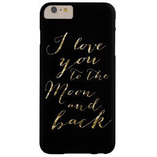 Black And Gold I Love You iPhone 6 Plus Cases
