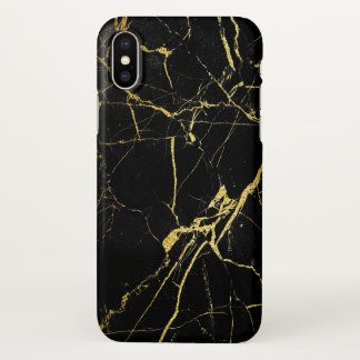 Black and gold iPhone x case