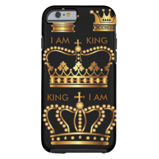 Black and Gold King Crowns IPhone 6 case Tough iPhone 6 Case