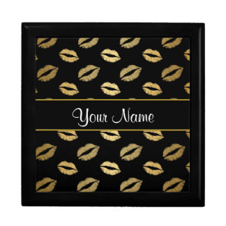 Black and Gold Kisses Gift Box