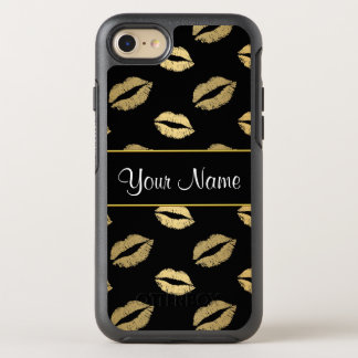 Black and Gold Kisses OtterBox Symmetry iPhone 8/7 Case
