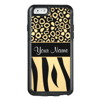 Black and Gold Leopard and Zebra Pattern OtterBox iPhone 6/6s Case