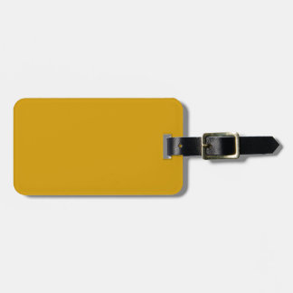 Black and Gold Luggage Tag