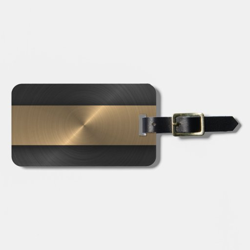 Black And Gold Travel Bag Tags