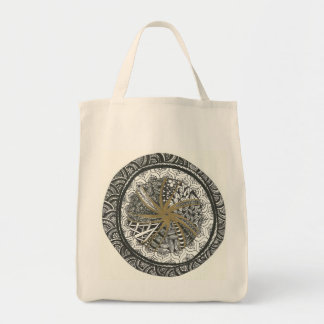Black and Gold Mandala Tote