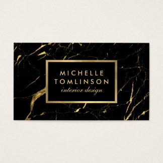 Black and Gold Marble Designer Business Card