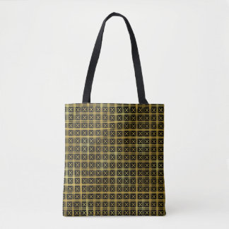 Black-and-Gold Medieval Pattern Tote Bag