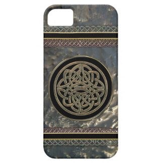 Black and Gold Metal Celtic Knot on iPhone 5 Case