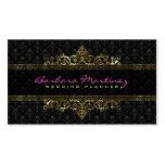 Black And Gold Metallic Floral Damasks & Frame Pack Of Standard Business Cards