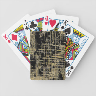 Black and Gold Modern Art Bicycle Playing Cards