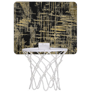 Black and Gold Modern Art Mini Basketball Hoop