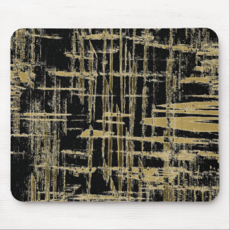 Black and Gold Modern Art Mouse Pad