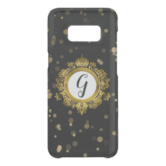 Black and Gold Monogrammed Samsung S8 Case