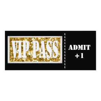 Black and Gold  party VIP invitation