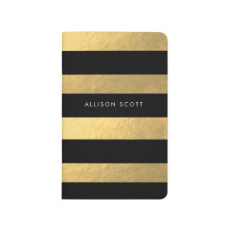 Black And Gold Personalized Journal