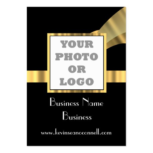 Black and gold  photo logo business card
