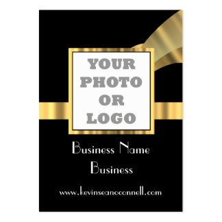 Black and gold  photo logo pack of chubby business cards