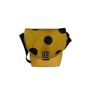 Black and Gold Polka Dot Commuter Bags