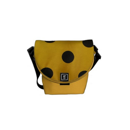 Black and Gold Polka Dot Courier Bags