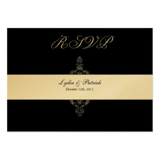 Black and Gold RSVP Card Business Card