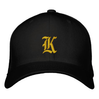 Black and Gold School Colors Embroidered Hat