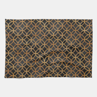 Black and Gold Seamless Pattern Tea Towel