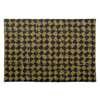 Black and gold sparkle placemats