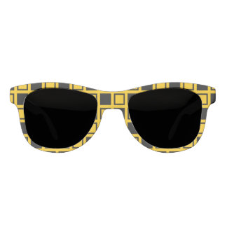 Black and Gold Squares Sunglasses