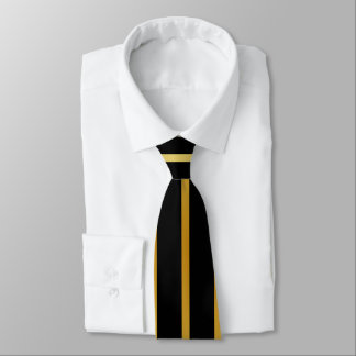 Black and Gold Stripe Tie