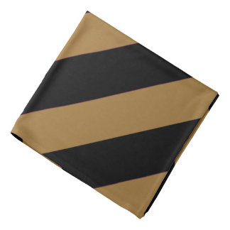 Black and Gold Striped Bandana