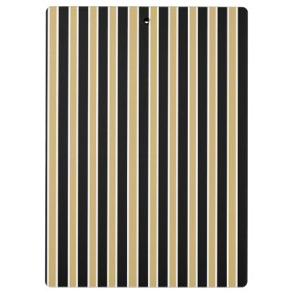 Black and Gold Stripes - School Colors Clipboards