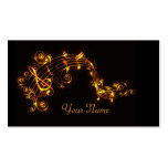 Black and Gold Swirling Musical Notes Business Car