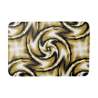 Black and Gold Swirls Bath Mat
