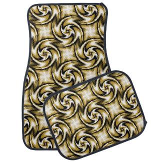 Black and Gold Swirls Floor Mat