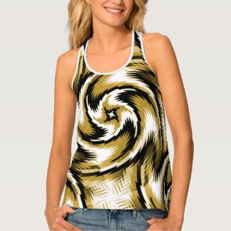Black and Gold Swirls Singlet