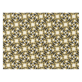 Black and Gold Swirls Tablecloth